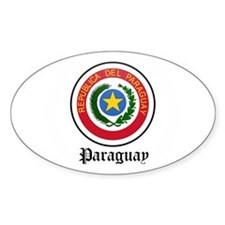 Paraguayan Coat of Arms Seal Oval Decal