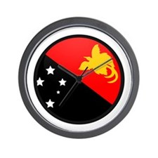 Papua New Guinea Wall Clock