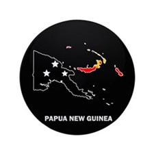 "Flag Map of Papua New Guinea 3.5"" Button"