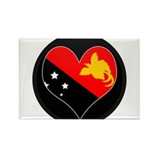 I love Papua New Guinea Flag Rectangle Magnet