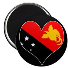 I love Papua New Guinea Flag Magnet