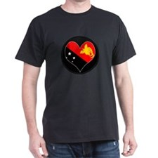 I love Papua New Guinea Flag T-Shirt