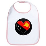 I love Papua New Guinea Flag Bib