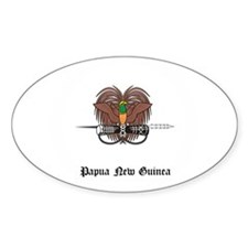 Guinean Coat of Arms Seal Oval Decal
