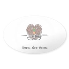 Guinean Coat of Arms Seal Oval Sticker (10 pk)