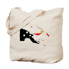 Papua New Guinea Flag Map Tote Bag