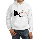 Papua New Guinea Flag Map Hoodie