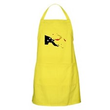 Papua New Guinea Flag Map BBQ Apron
