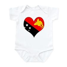 I Love Papua New Guinea Infant Bodysuit