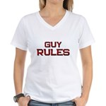 guy rules Women's V-Neck T-Shirt