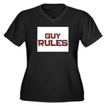 guy rules Women's Plus Size V-Neck Dark T-Shirt