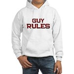 guy rules Hooded Sweatshirt