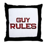 guy rules Throw Pillow