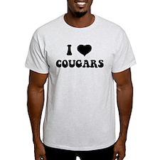 I Love Cougars T-Shirt T-Shirt