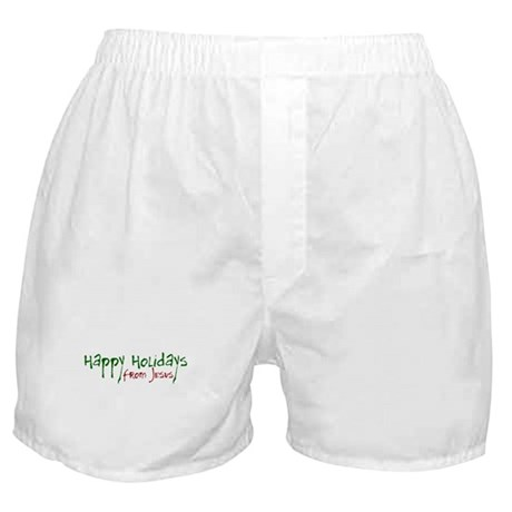 Happy Holidays from Jesus Boxer Shorts
