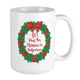 Wreath Baking Christmas Mug