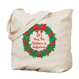 Wreath Baking Christmas Tote Bag