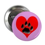 Cat Track Pawprint & Heart Button