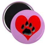 Cat Track Pawprint & Heart 2.25