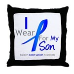 Colon Cancer Son Throw Pillow