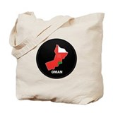 Flag Map of Oman Tote Bag
