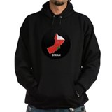Flag Map of Oman Hoodie
