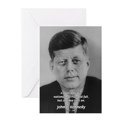 Power of the Idea JFK Greeting Cards (Pk of 10