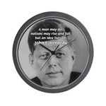 Power of the Idea JFK Wall Clock