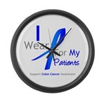 Colon Cancer Partner Large Wall Clock