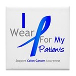 Colon Cancer Partner Tile Coaster