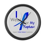 Colon Cancer Nephew Large Wall Clock