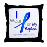 Colon Cancer Nephew Throw Pillow