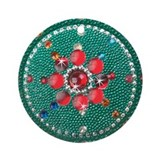 Antique Beaded Look #2 Ornament (Round)