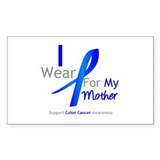 Colon Cancer Mother Rectangle Sticker 50 pk)