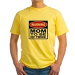 Mom To Be Twins Yellow T-Shirt