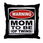 Mom To Be Twins Throw Pillow