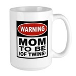 Mom To Be Twins Large Mug