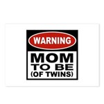 Mom To Be Twins Postcards (Package of 8)