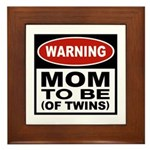 Mom To Be Twins Framed Tile