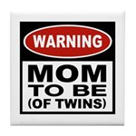 Mom To Be Twins Tile Coaster