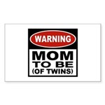 Mom To Be Twins Rectangle Sticker 10 pk)