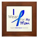 Colon Cancer Mom Framed Tile