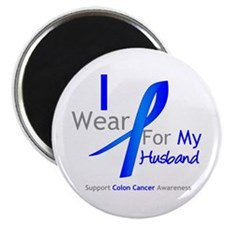 "Colon Cancer Husband 2.25"" Magnet (100 pack)"