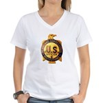 Federal Prison Officer Women's V-Neck T-Shirt