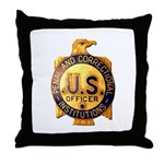 Federal Prison Officer Throw Pillow