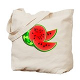 Juicy Red and Green Watermelon Tote Bag