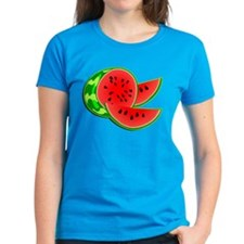 Juicy Red and Green Watermelon Tee