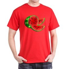 Juicy Red and Green Watermelon T-Shirt