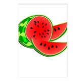 Juicy Red and Green Watermelon Postcards (Package