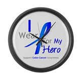 Colon Cancer Hero Large Wall Clock